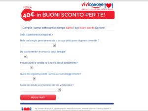 Registrazione Vividanone.it Buoni sconto da 40€ - step 2