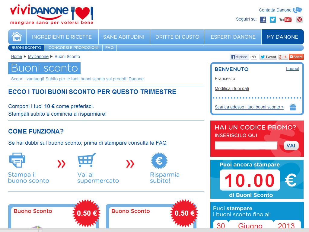 Www vividanone it buoni sconto for Buoni coupon