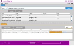 La schermata di Groovesquid