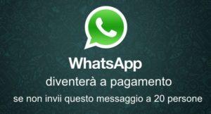 Whatsapp a pagamento da sabato mattina