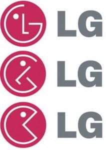 Il logo di LG traslato