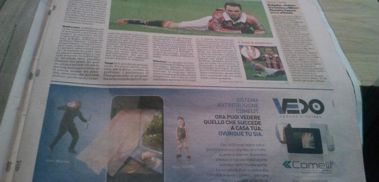 Comelit Vedo sulla Gazzetta dello sport