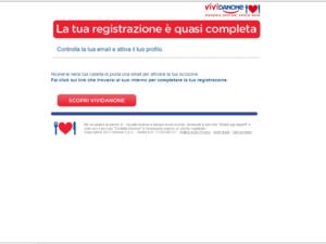 Registrazione Vividanone.it Buoni sconto da 40€ - step 3