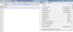 Notepad++ aprire in un'altra istanza