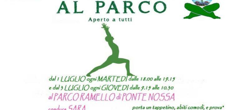 yoga al parco Ramello di Ponte Nossa Bergamo